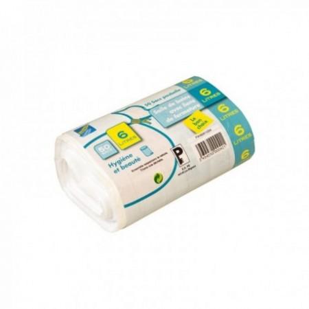 Sac poubelle PEMD Hygiène & Beauté - Soudure à plat (cm) Blanc