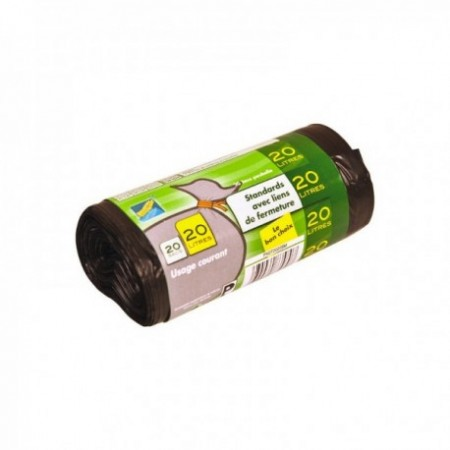 Sac poubelle PEMD Standard - Soudure étoile (cm) Noir