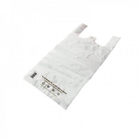 Sacs bretelles Caisses réutilisables PEMD blanc 36 L