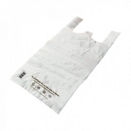 Sacs bretelles Caisses réutilisables PEBD (cm) Blanc