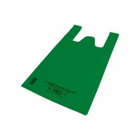 Sacs bretelles Caisses réutilisables PEBD (cm) Vert 12 L