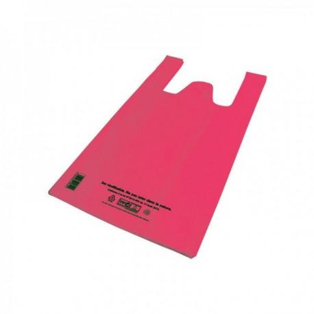 Sacs bretelles Caisses réutilisables PEBD (cm) rose 9.7L