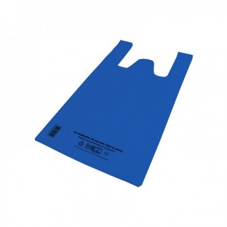 Sacs bretelles PEBD bleu 21 L