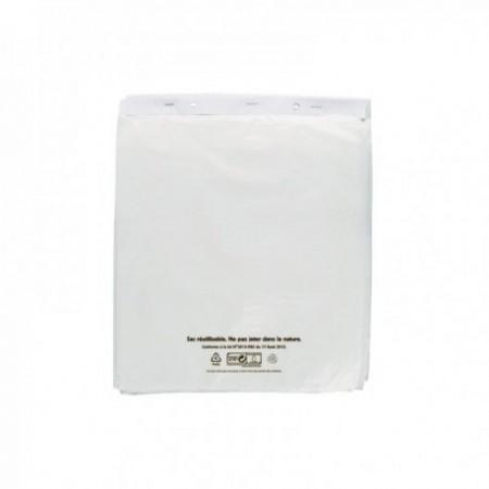 Sacs liasses PEBD blanc