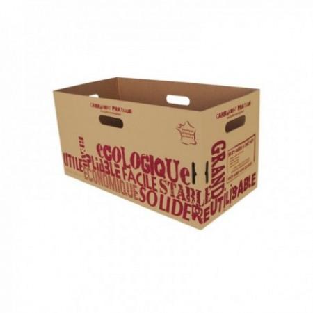 """Carton courses kraft brun Carrément pratique"""" 30 L"""