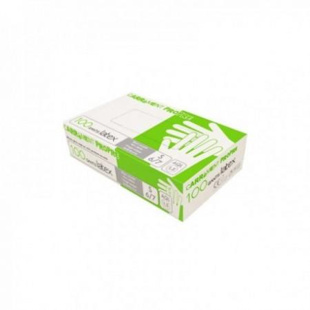 Gants latex poudré blanc L240 mm l110 mm mini