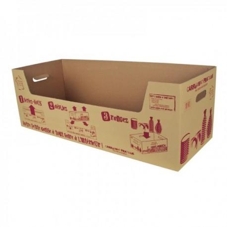 """Support carton courses kraft brun Carrément pratique"""""""