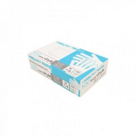 Gants vinyle poudré blanc L240 mm l110 mm mini
